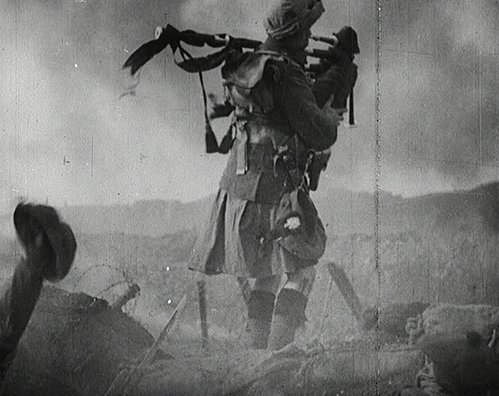 Bagpiper, World War I