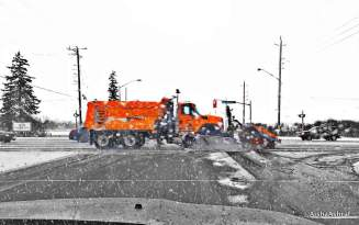 Snow-plow on Canadian road