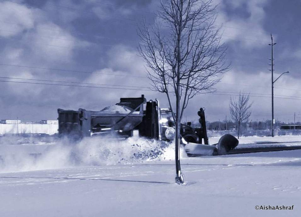 Snow-Plow In Action