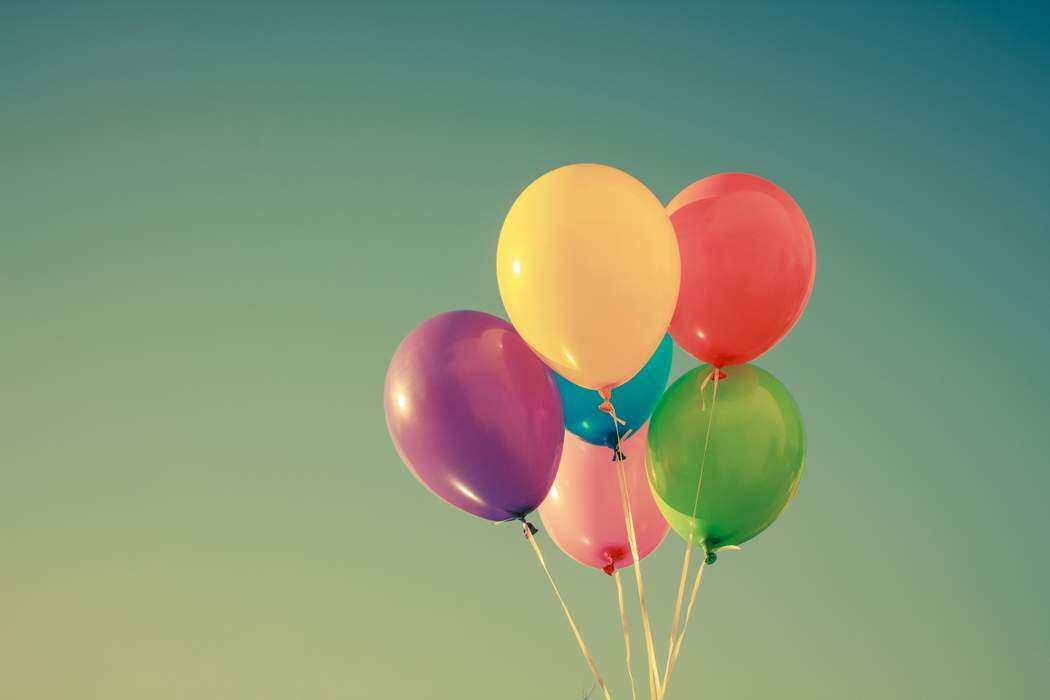bunch of coloured balloons