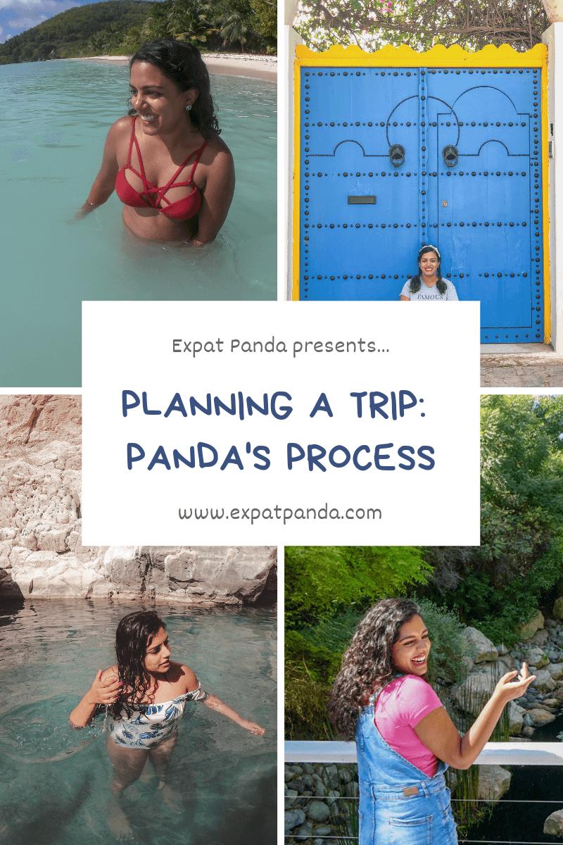 Planning a trip: Panda's Process