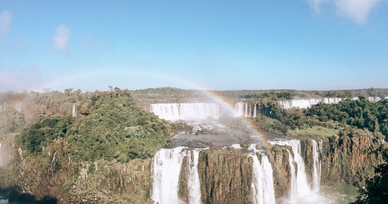 A panda visits Iguazu Falls (The Brazilian side)