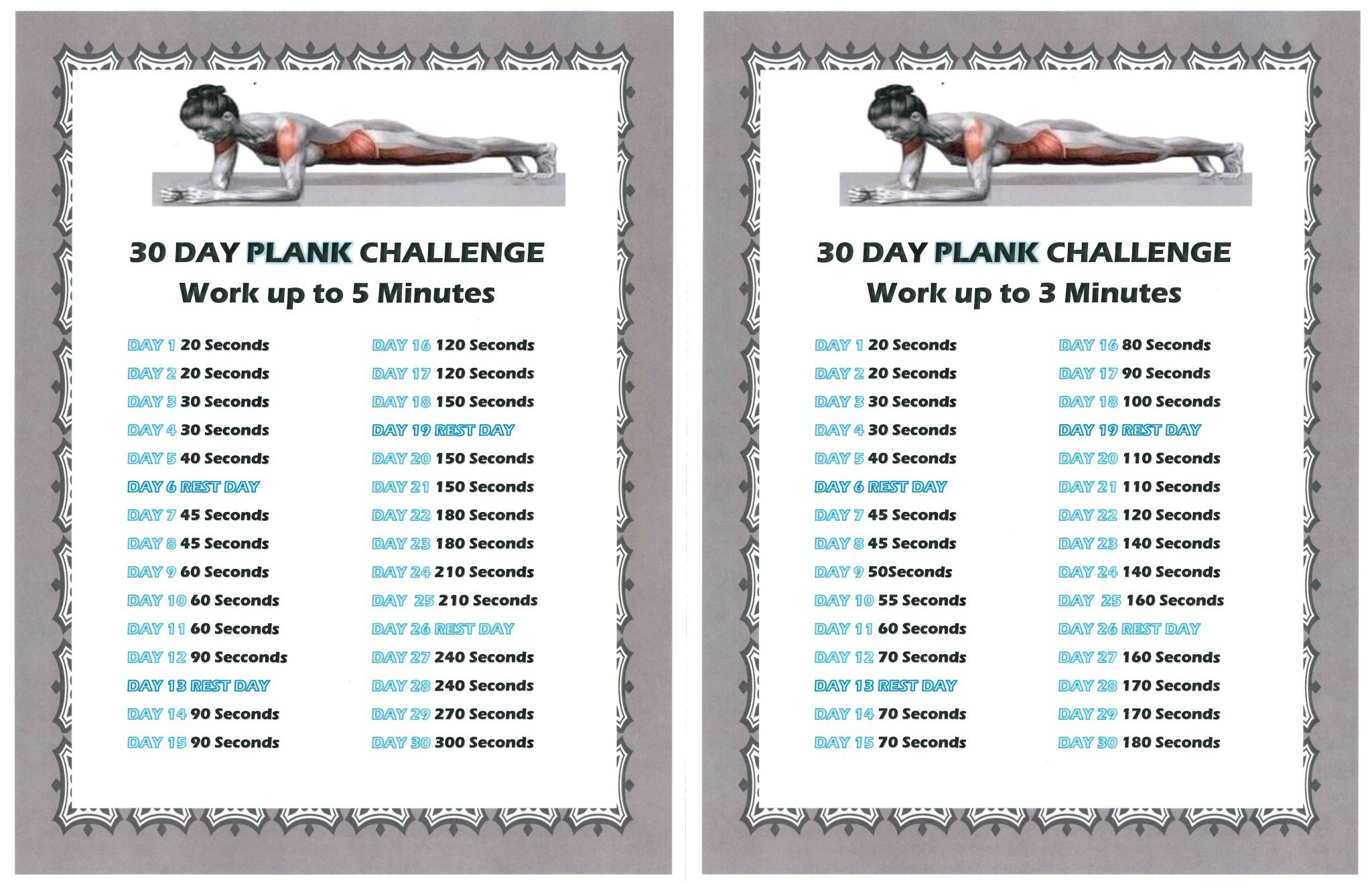30 Day Plank Challenge 2015 International Triathlon Club Paris