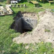 This could happen to you too: a bunker in your garden! (Picture: Facebook Haagse Bunker Ploeg)