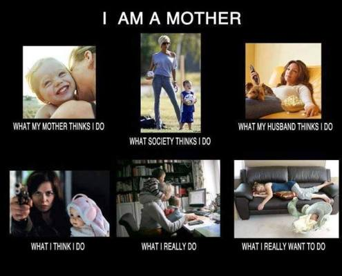 Being a mother.... looks familiar ?