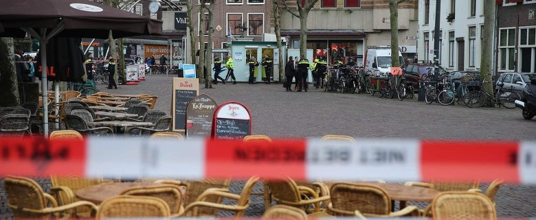 Shot fired at Botermarkt in Haarlem (Photo: HFV/Michel van Bergen)