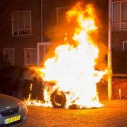 Car fire Haarlem