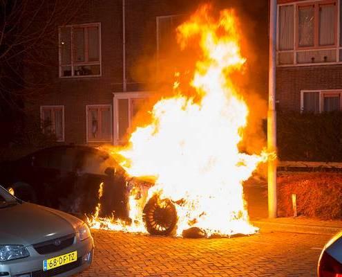 Car fire Haarlem