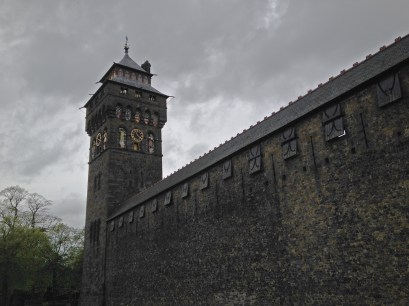 Cardiff castle wall