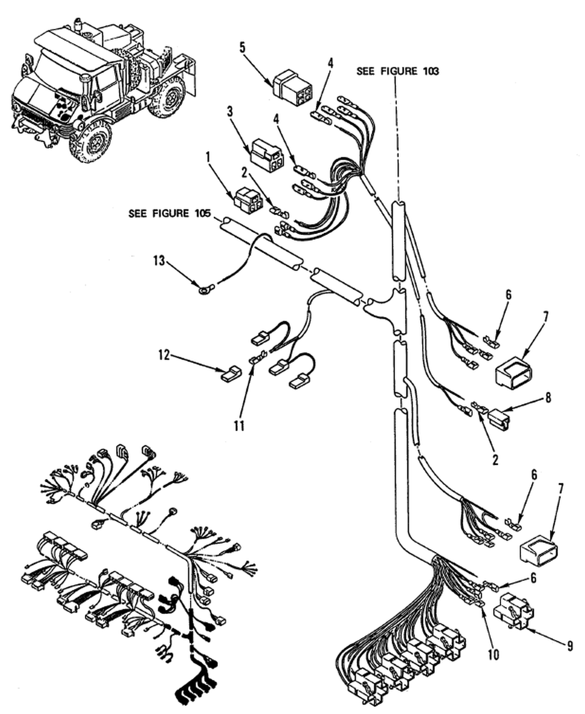 00 2 Figure 104 Hull Or Chassis Wiring Harness Main Wiring Harness Figure 3 Of 4