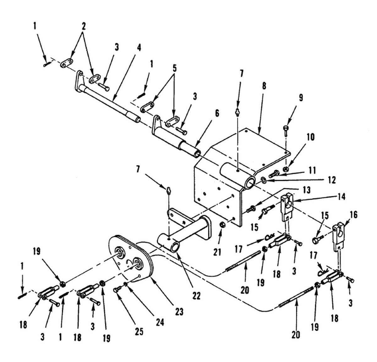 00 2 Figure 254 Hydraulic Control Levers And Linkage