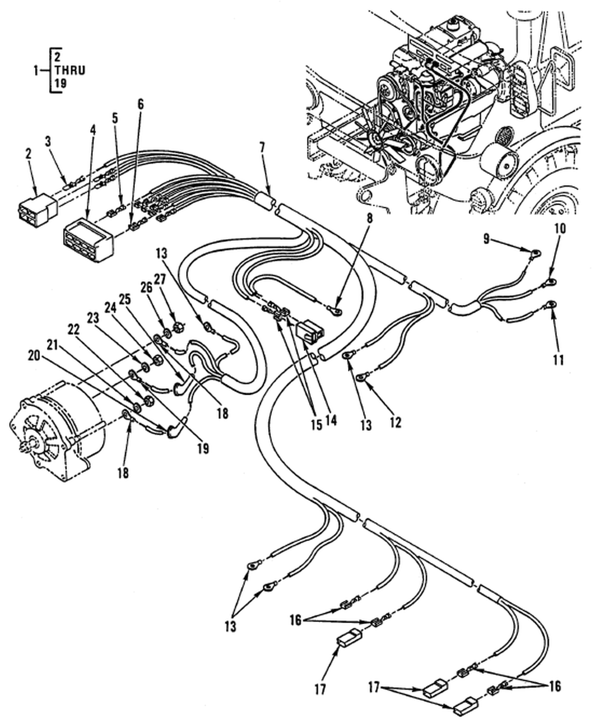 00 2 Figure 85 Hull Or Chassis Wiring Harness