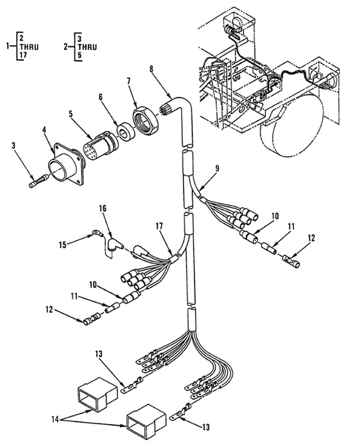 00 2 Figure 87 Hull Or Chassis Wiring Harness