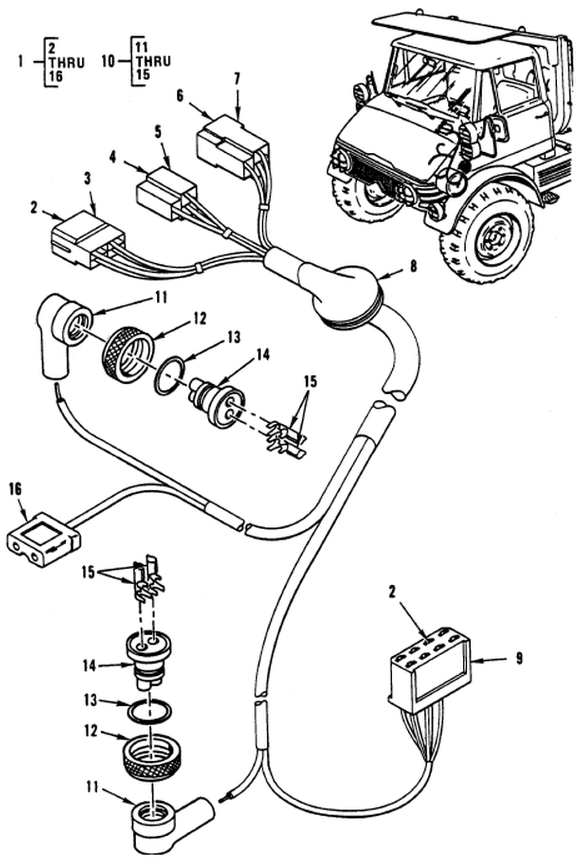 00 2 Figure 90 Hull Or Chassis Wiring Harness Hazard Warning Light Wiring Harness And