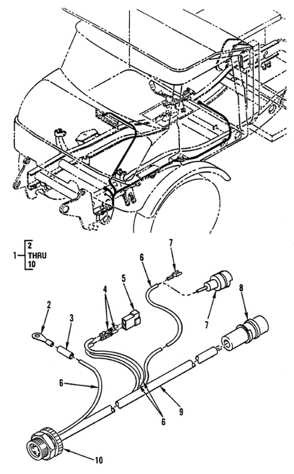 00 2 Figure 92 Hull Or Chassis Wiring Harness