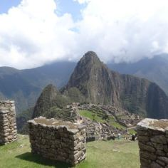 Blick hinab zum Machu Picchu