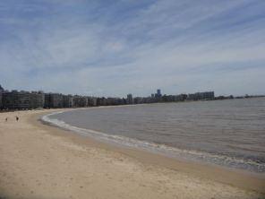 der Strand von Montevideo