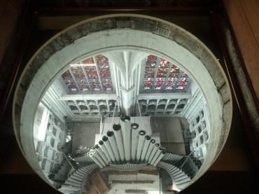 die Orgel von oben