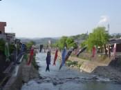 Fluß-Deko in Takayama