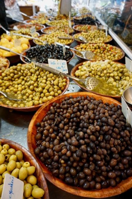 Oliven-Auswahl
