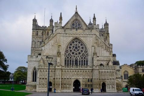 Kathedrale von Exeter von vorne