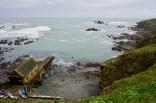 Ebbe im Hafen am Lizard Point