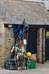 Angler-Utensilien in Sennen