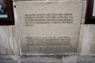 Tafel zum Attentat auf Prinz Ferdinand