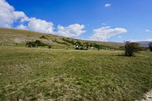 Die Landschaft in Bosnien