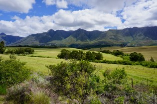 Hohe Berge und grüne Wiesen
