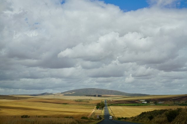 Weiter Blick in Western Cape