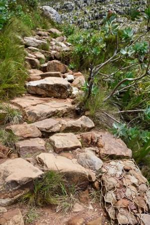 Steine als Treppe
