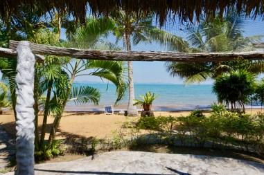 Palmen bewachsender Sandstrand