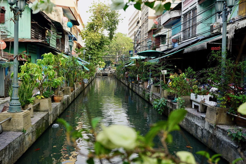 Der der viele Kanäle in Bangkok