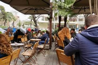 Café-Szene in Tirana