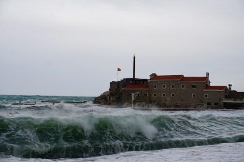 Wellen an der Adriaküste