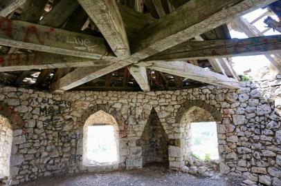 Jahrhunderte alte Dachkonstruktion