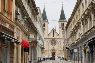 Einkaufsstraße in Sarajevo