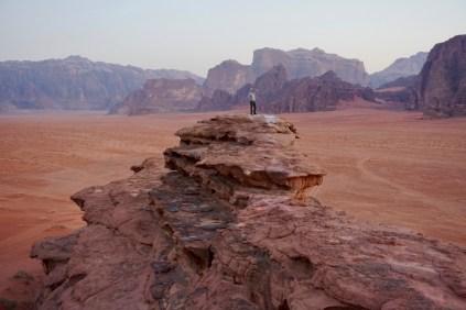Weitläufige, jordanische Wüste