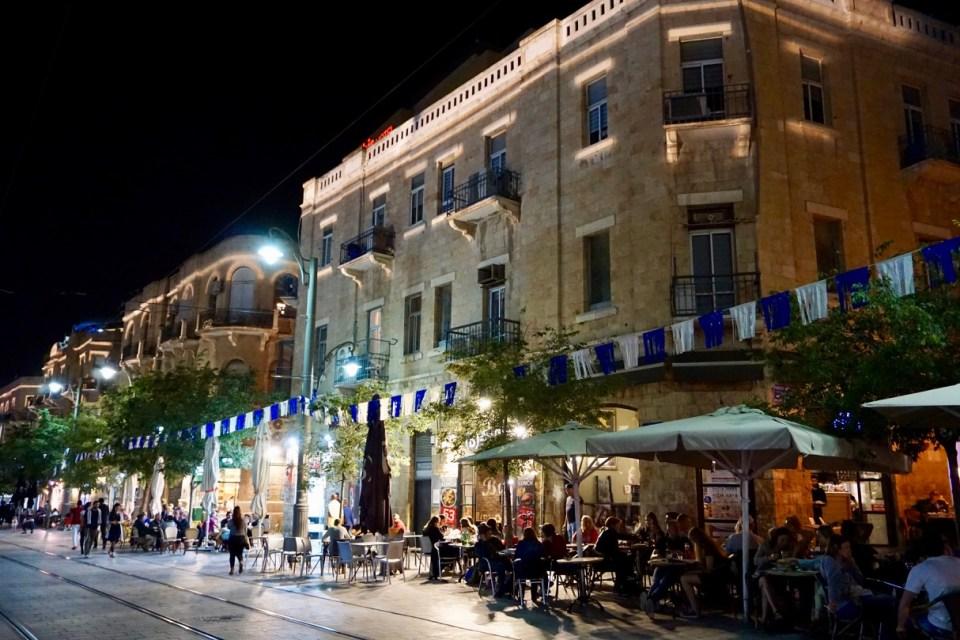 Ruhiger Abend in Jerusalem