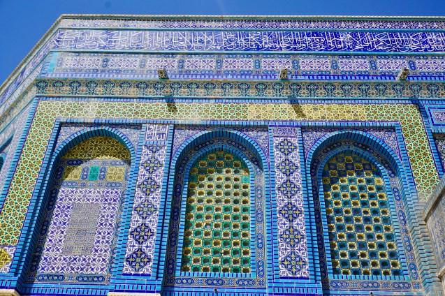 Mosaik-Verzierungen in Jerusalem