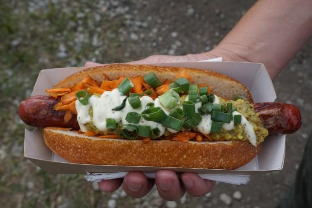 Hotdog beim Festival
