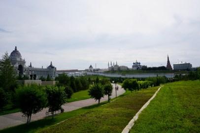 Großzügige Parkanlage und Kreml