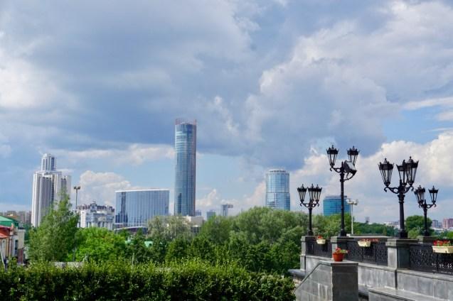 Skyline einer russischen Großstadt