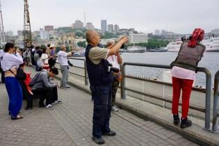 China-Urlauber in Wladiwostok