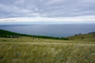 Wiese und Baikal-See