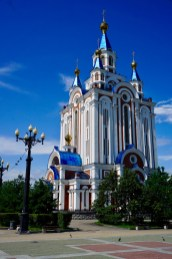 Kathedrale Komsomolskaya in Chabarowsk