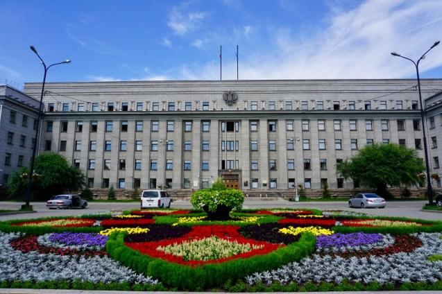 Regierungsgebäude in Sibirien