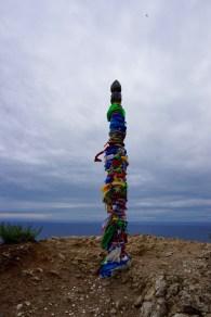 Schamanen-Fahnen am Baikal-See