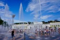Springbrunnen im Juli